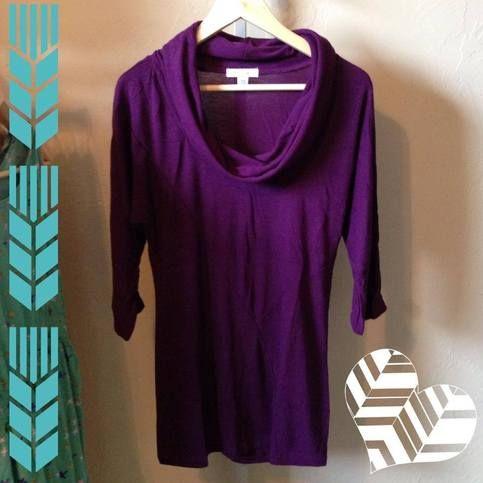 Purple Cowl Top from Magnolia Lane Boutique