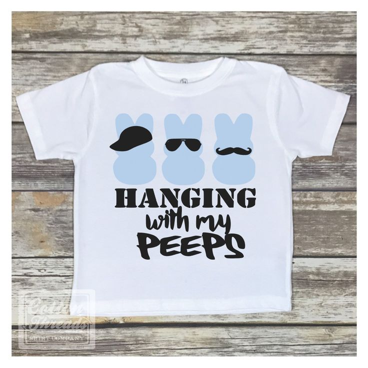 Hanging With My Peeps Boys Easter Shirt Kids Holiday