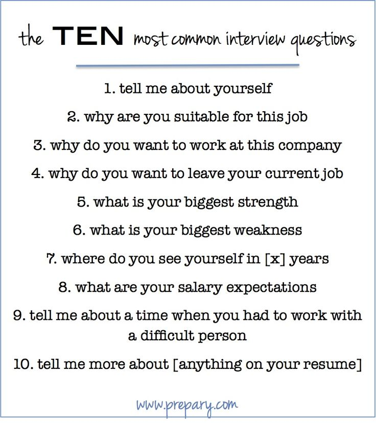 "This post covers how to answer the 10 most common interview questions out there like ""tell me about yourself"", ""what is your biggest weakness"", and more."