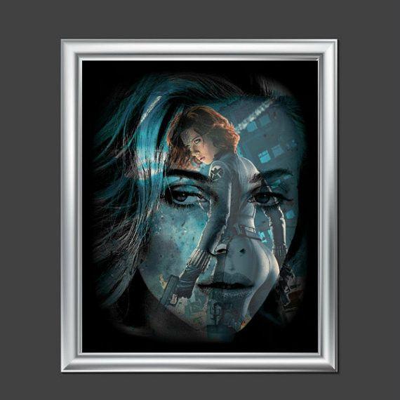 Scarlett Johansson Black Widow Avengers Wall Art | Lisa Jaye Art Designs