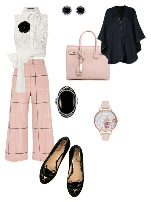 """""""Sophisticated afternoon"""" by emily-bielefeld ❤ liked on Polyvore featuring River Island, Marissa Webb, Yves Saint Laurent, Olivia Burton, Thomas Sabo, SWILDENS, Le Vieux and Sofiacashmere"""