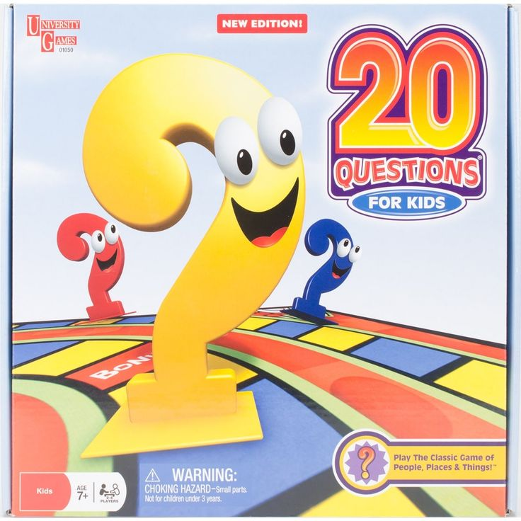 UNIVERSITY GAMES 20 Questions For Kids Boxed Game-