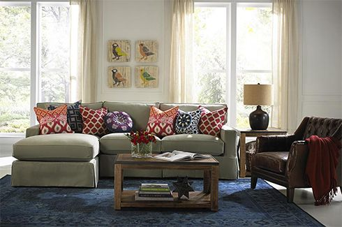 161 best belfort furniture images on pinterest sofas 3 - Mixing leather and fabric living room ...