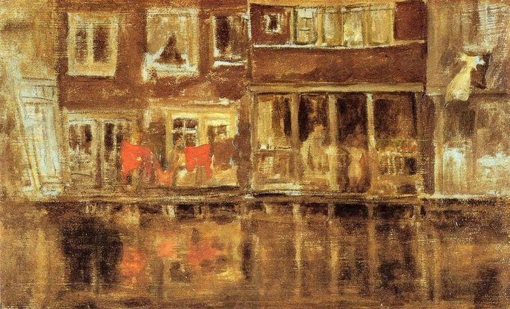 The CanalparJames McNeill Whistler   Size: 23.18x13.65 cm Medium: oil, canvas