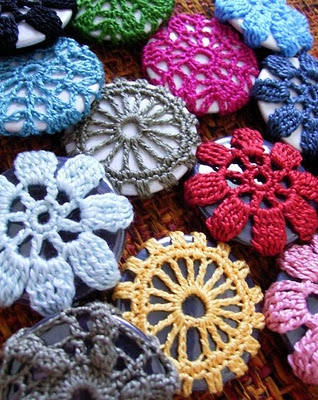 etsy crocheted buttons