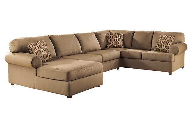 Cowan 3-piece sectional has the corner on clean, contemporary style and neutral practicality. Plush yet supportive cushions offer both indulgence and structure, while pretty rolled arms round out the look with a touch of flair. Corner chaise is just the place when you're feeling especially mellow.