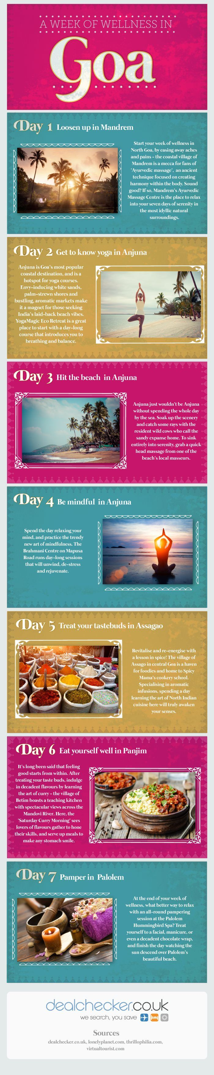 A Week of Wellness in Goa #infographic #Travel #Goa  www.travel4life.club