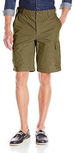 $14, Olive Shorts: Izod Slub Twill Cargo Short. Sold by Amazon.com. Click for more info: https://lookastic.com/men/shop_items/211528/redirect