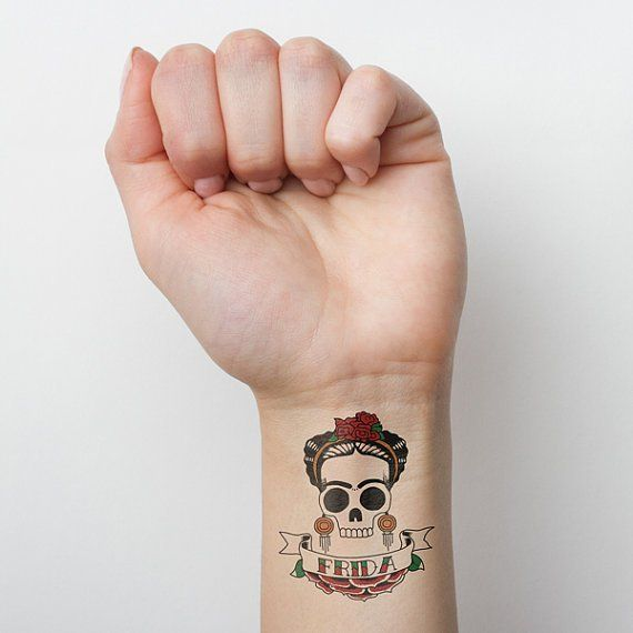 Frida Kahlo Skull Temporary Tattoo | Fancy | Discover the Perfect Gift