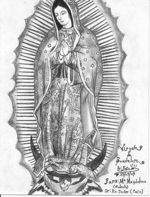 Pinterest the world s catalog of ideas for Virgen de guadalupe coloring pages