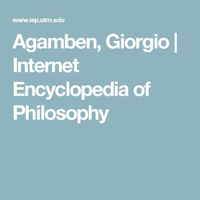 Agamben, Giorgio | Internet Encyclopedia of Philosophy