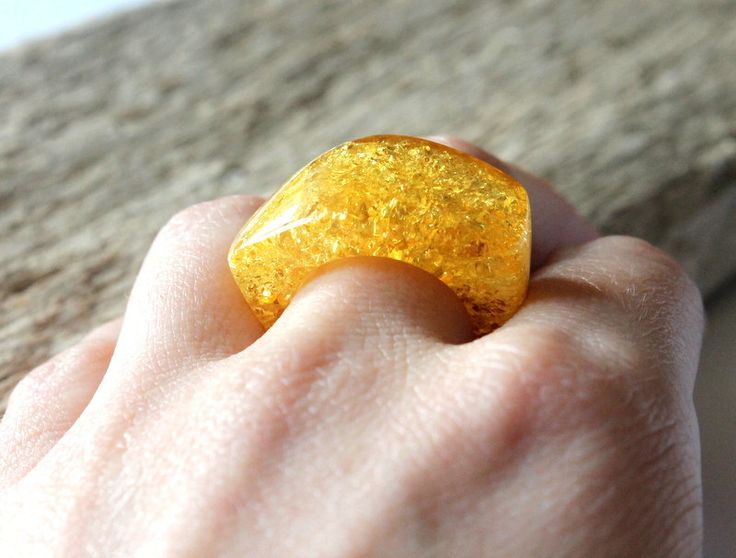 Modern amber ring, amber jewelry, lemon ring, natural Baltic amber, amber rings, elegant amber ring, massive amber ring, ring from one stone by AmberDesign8 on Etsy