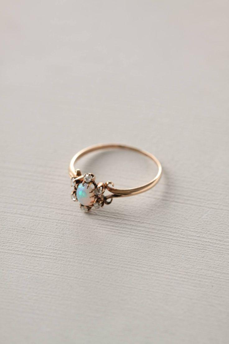 """Doyle & Doyle jewelry at Anthropologie 10k gold, opal, diamond 0.25""""W USA Style #: 20351573"""