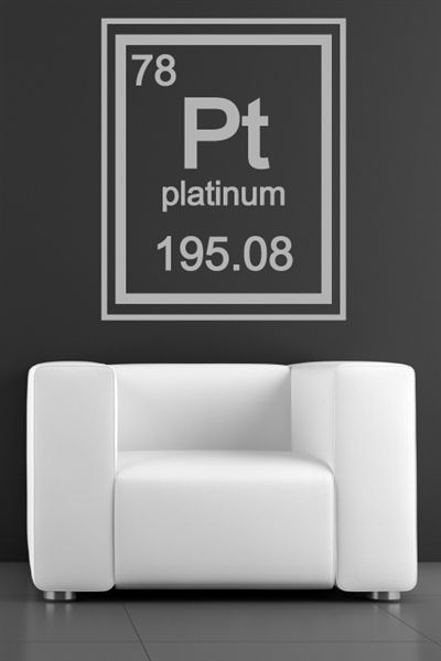 I just discovered some really cool wall art @walltat. It's do-it-yourself wall decals for kids and adults.  Check it out! #walltat, #DIY, #interiors Platinum Periodic Table Element - Wall Decals #walldecals, #walltat