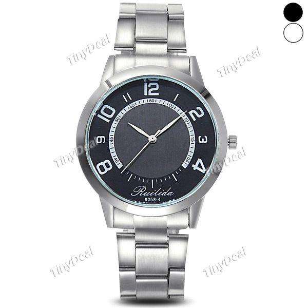 Простой стиль случае Инокс стальной браслет ремешок бизнес случайных кварцевые часы мужчины женщины WWT-403700