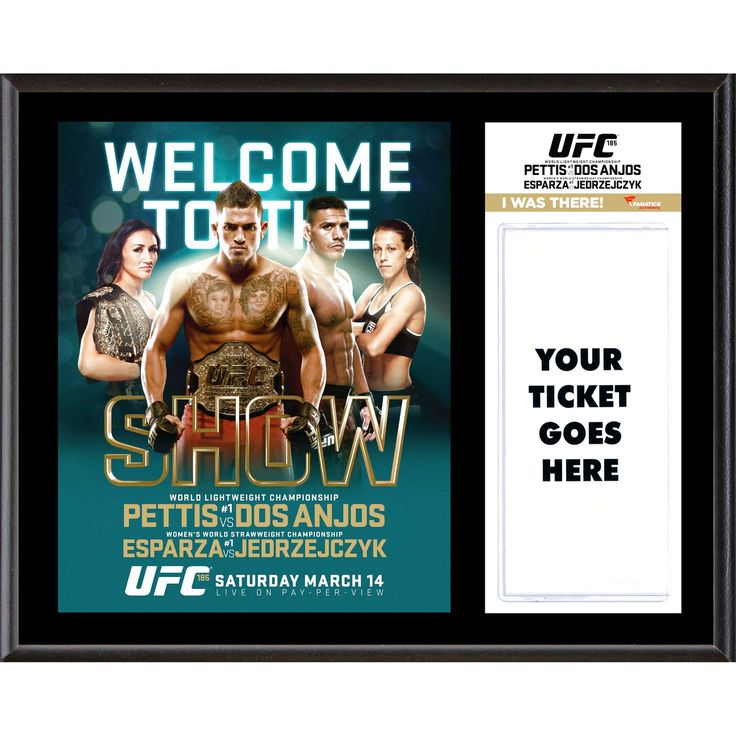 """Fanatics Authentic UFC 185 Anthony Pettis vs. Rafael dos Anjos Dueling """"I Was There"""" 12"""" x 15"""" Sublimated Plaque - $31.99"""