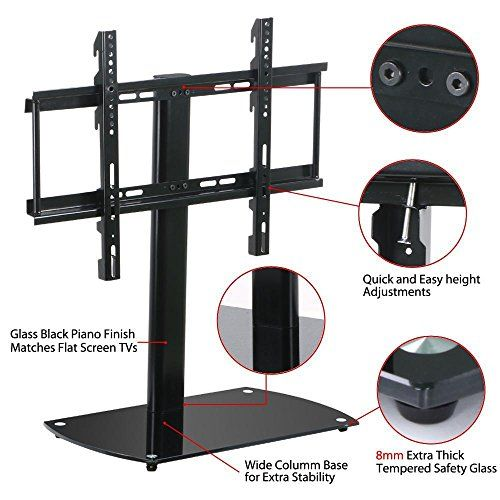 #donations Universal Wall Mount TV Stand Adjustable Pedestal Base Laptop TV Stand Features: Adjustable TV stand made of premium iron and tempered glass, durable...