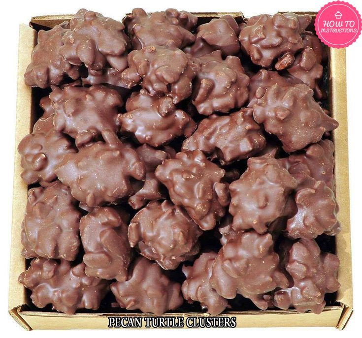 Ingredients : 2 1/2 C pecans 1/2 C butter (I use salted) 1 C brown sugar 1/2 C light corn syrup 7 ounces sweetened condensed milk (1/2 of a 14 ounce can) 1/2 t vanilla 1 (12 ounce) package milk chocolate chips 1/2 t shortening (I use butter flavored Crisco) Directions : 1. Toss 2 1/2 cups of pecans into a large skillet. Toast them over medium high heat, stirring occasionally, until they have darkened just a bit and smell fragrant and wonderful. Should only t...
