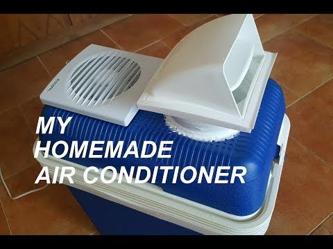 Homemade Air conditioner - YouTube