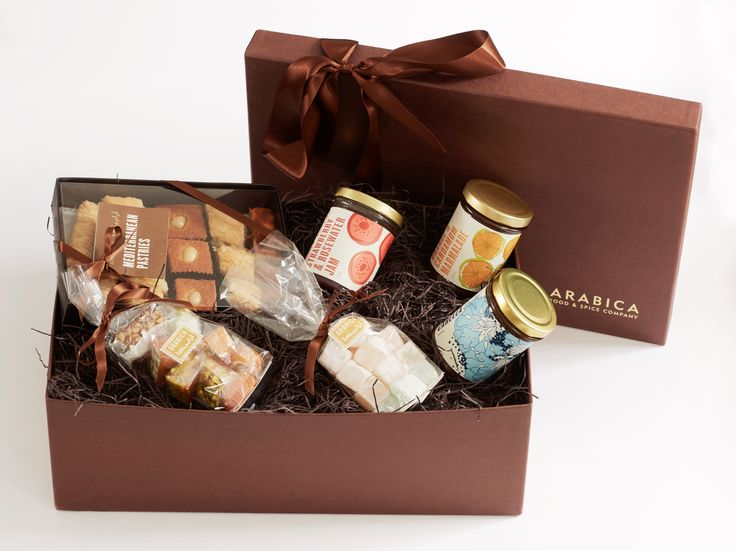 Arabica's classic hamper of middle-eastern sweetmeats makes the the perfect sweet-toothed gift.  Includes a box of melt in the mouth baklava pastries, a moreish helping of all natural Turkish delights, a bag of chewy luxury Lebanese nougat & malban, a jar of sweet nutty Carella, English Strawberry & Rosewater jam and a jar of coarse cut Seville orange Marmalade enhanced with exotic green cardamom and orange blossom water.