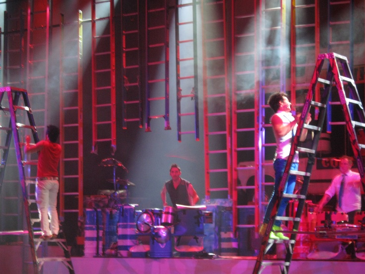 Recycled Percussion using Werner ladders as percussion instruments.