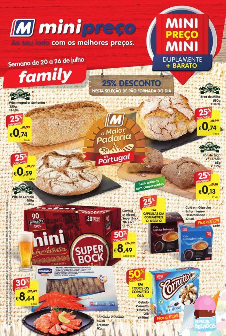 Folheto #Minipreço promoções da semana versão Family em vigor de 20 a 26 de Julho.