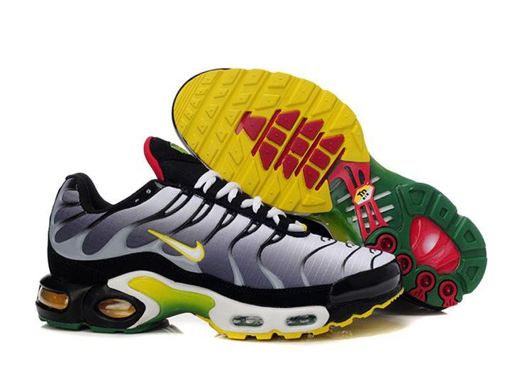 Chaussures de Nike Air Max Tn Requin Homme Noir argent et