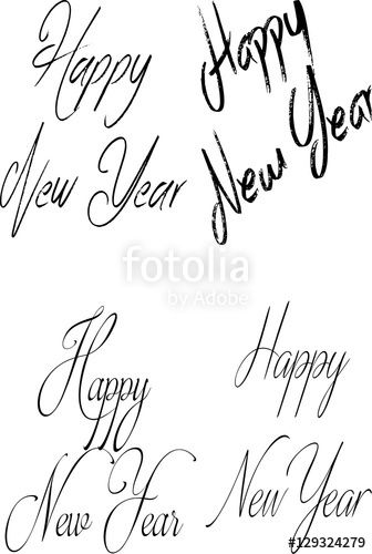 Vettoriale: Happy New year collage