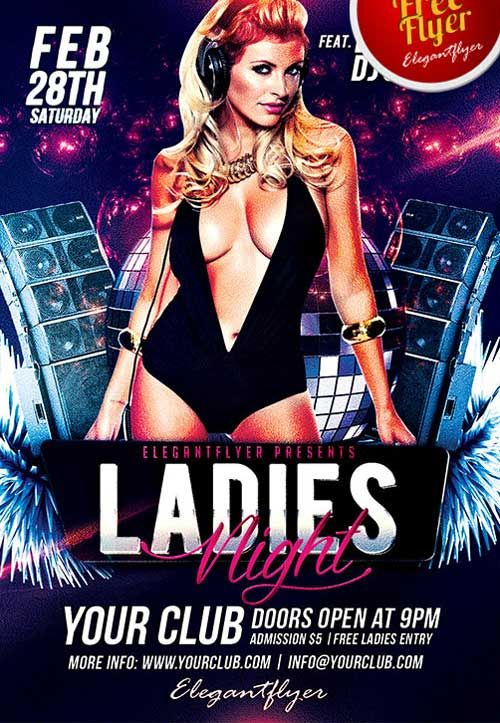 8 best party flyer template download images on pinterest flyer free ladies night club psd flyer template pronofoot35fo Images