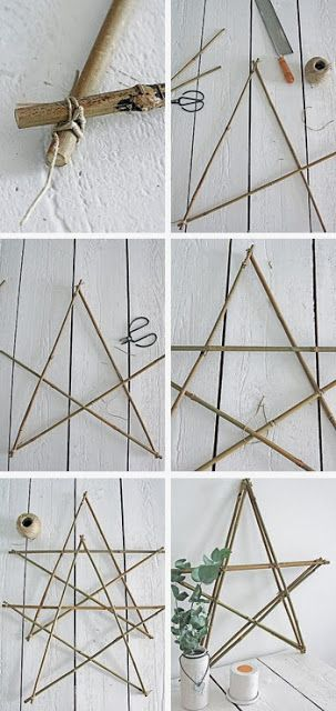 Our cottage on nine high: 101-living ideas - make a Christmas star with branches