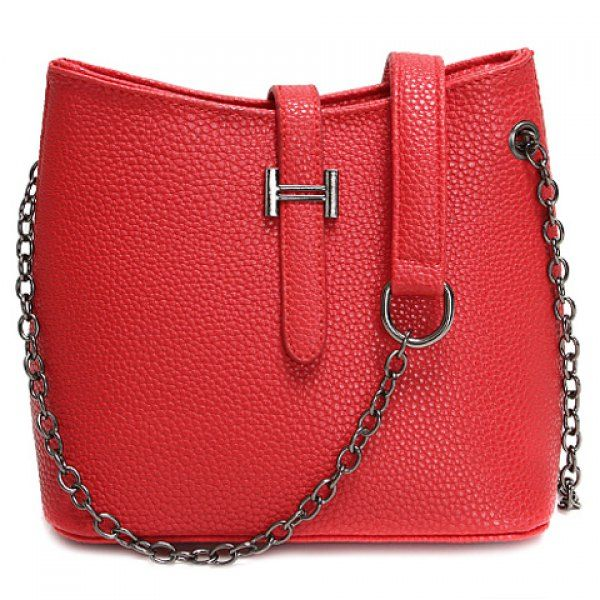Fashionable Chain and Solid Colour Design Crossbody Bag For Women #men, #hats, #watches, #belts, #fashion