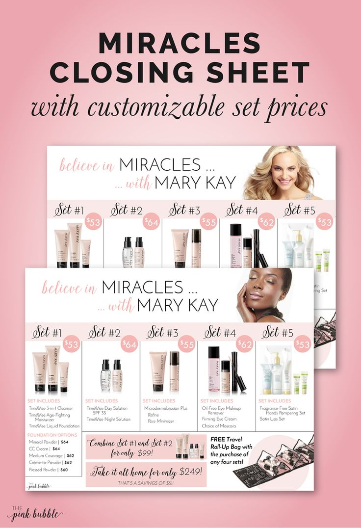Mary kay sale flyer ideas - Believe In Miracles With Mary Kay Closing Set Sheet Find It Only At Www