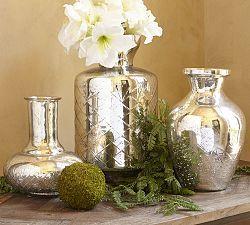 Buy cheap vases and spray w/ Krylon--Decorations For Christmas   Pottery Barn