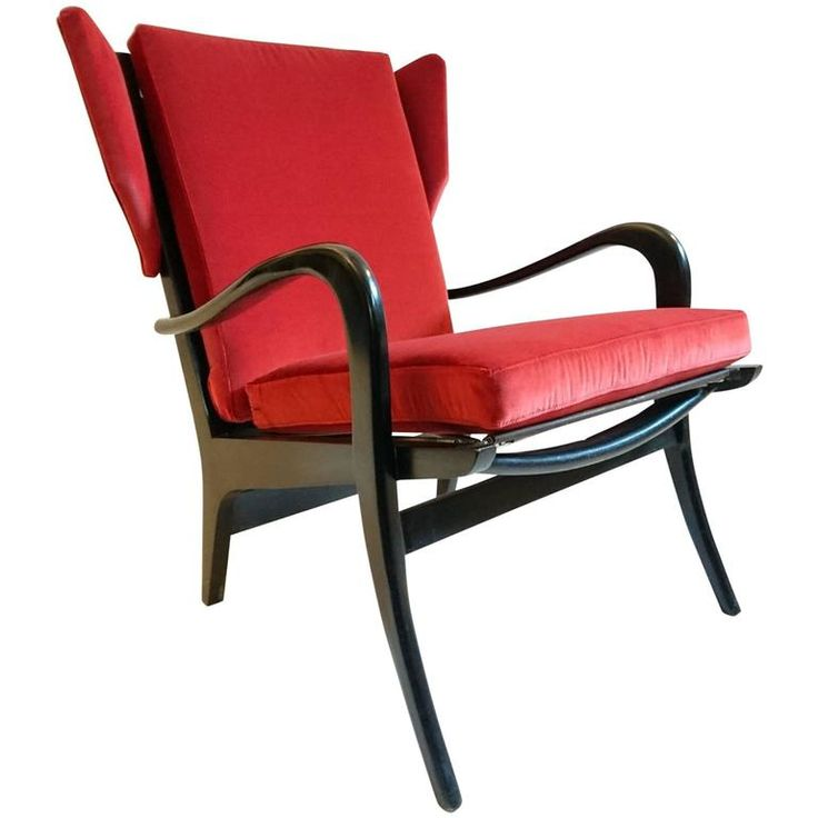 Wingback Armchair by Pierre Guariche with Free-Span System | From a unique collection of antique and modern armchairs at https://www.1stdibs.com/furniture/seating/armchairs/
