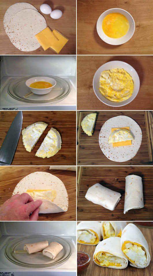 Two-Minute Breakfast Burritos
