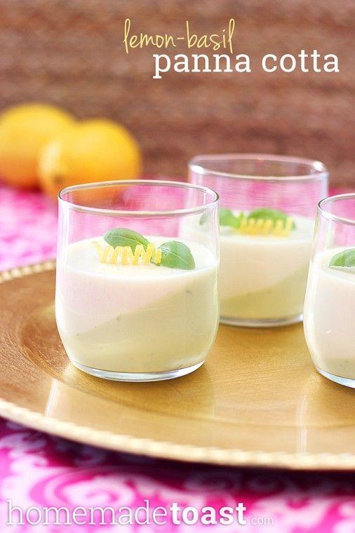 Lemon Basil Panna Cotta Step By Step Images