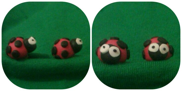 Pendientes mariquita de Nanuk Accessoris. Tambien disponible en broche.  https://www.facebook.com/nanukaccessoris
