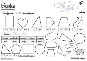 CM-G om trie-Les polygones-Les fiches d activit | FSL: Numbers, Time, Money | Pinterest | Blog