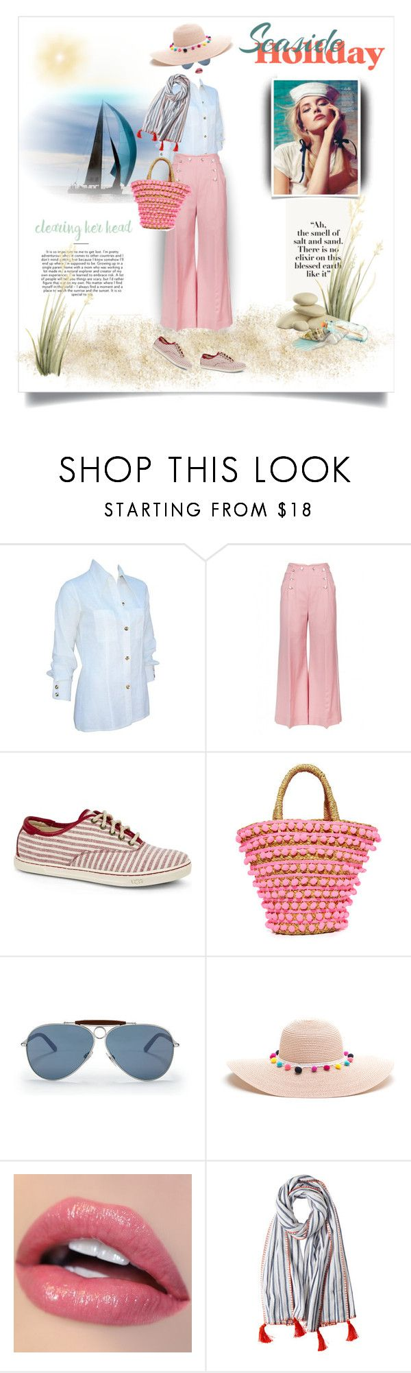 """""""A Nautical Look"""" by onesweetthing ❤ liked on Polyvore featuring Gucci, Temperley London, UGG Australia, Mystique, Ralph Lauren, Calypso St. Barth, Nautical, gucci, TemperleyLondon and uggaustrailia"""