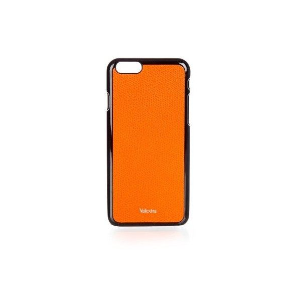 Valextra Grained-leather iPhone® 6 case (£110) ❤ liked on Polyvore featuring men's fashion, men's accessories, men's tech accessories, bags and orange