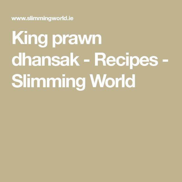 King prawn dhansak - Recipes - Slimming World