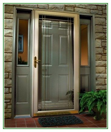Perfect Aluminum Screen Doors Share Door Throughout Design