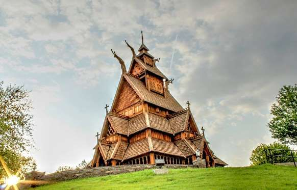 The Most Beautiful Places Of Worship In Every State Gol Stave Church Minot North Dakota Scandina Place Of Worship Beautiful Places Most Beautiful Places