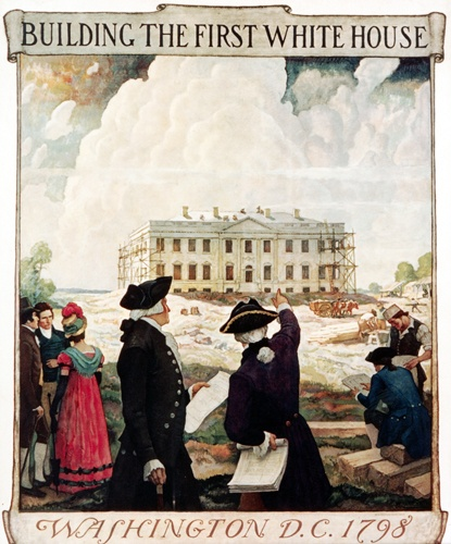 10 best the original white house images on pinterest for Did george washington live in the white house