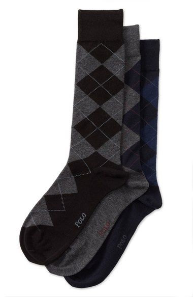 Polo Ralph Lauren Argyle Socks (3-Pack) available at #Nordstrom