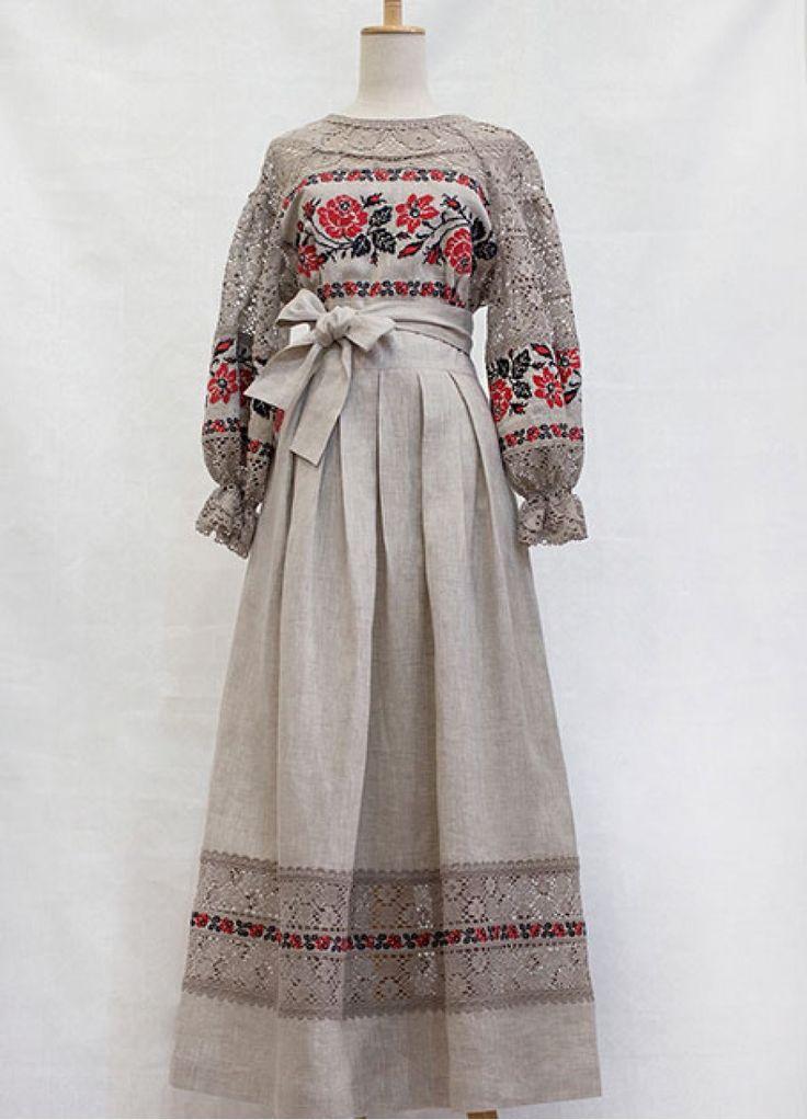 Льняное платье в пол  ПЛ-770120