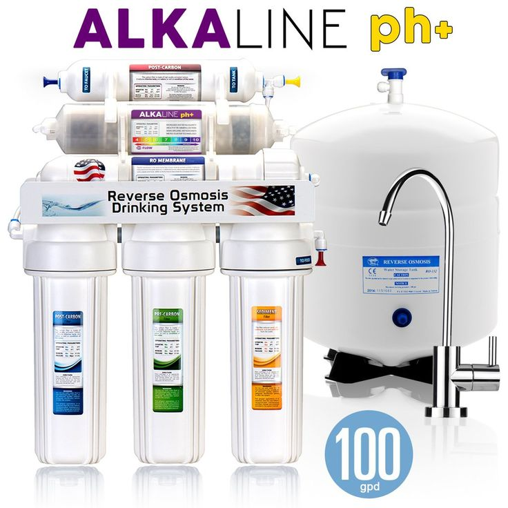 10 Stage Alkaline Antioxidant Reverse Osmosis Home Drinking Water Filtration System- 100GPD MODERN - ROALK10M - Express Water - 11