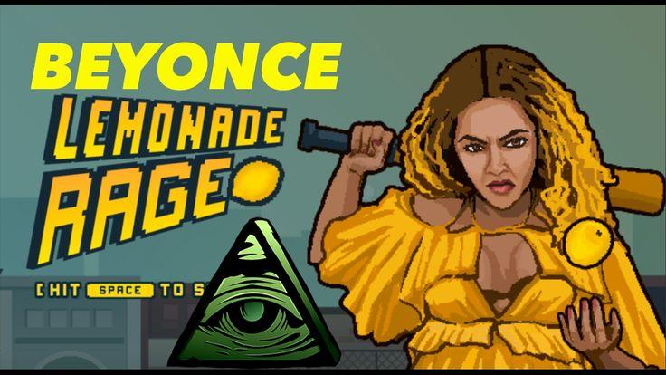 BEYONCE LEMONADE RAGE VIDEO GAME PROMOTES ATTACKING ILLUMINATI CONSPIRAC...