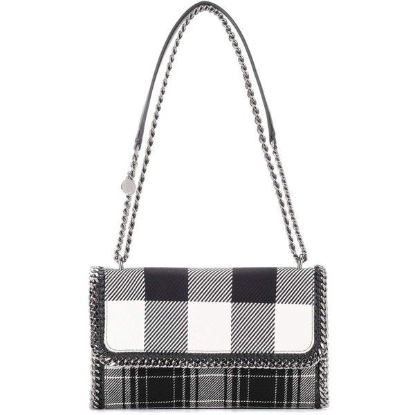 Stella McCartney Falabella Plaid Shoulder Bag (19.395 ARS) ❤ liked on Polyvore featuring bags, handbags, shoulder bags, grey, plaid handbag, plaid shoulder bag, gray shoulder bag, stella mccartney shoulder bag and gray purse