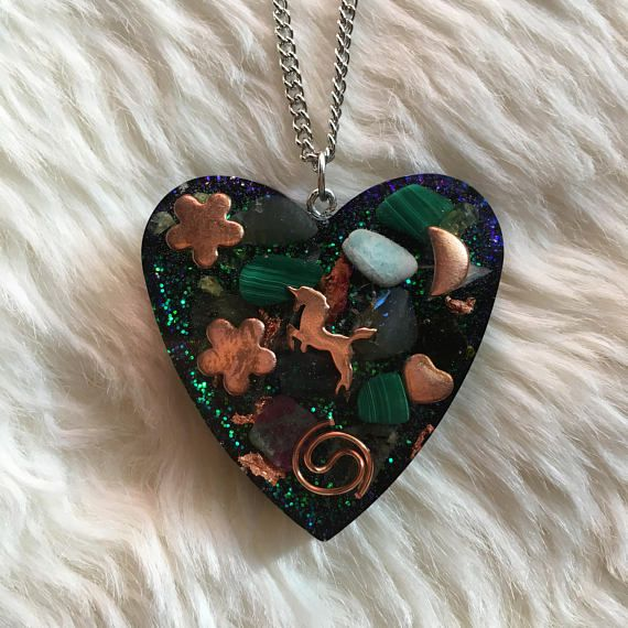 Orgone Unicorn Pendant by TheFaerieGodmother on Etsy Unicorn Jewelry Inspiration, Unicorn Jewelry, Unicorn Necklace, Unicorn Pendant, Energy Jewelry, Orgone Jewelry, Orgone Generator, Orgonite, Orgone Pendant, Metaphysical, Gift